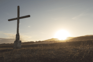 cross and sunrise