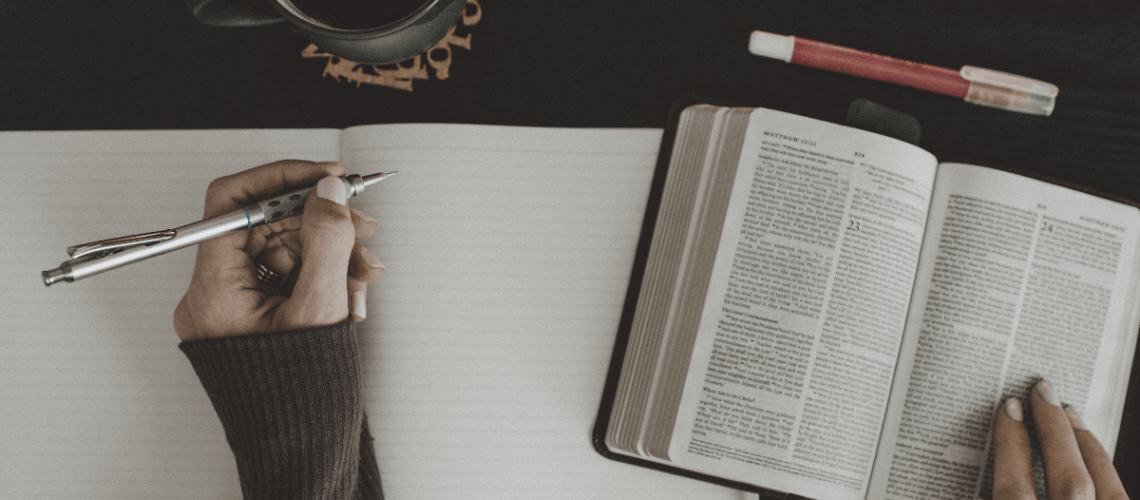 Journaling and reading Bible